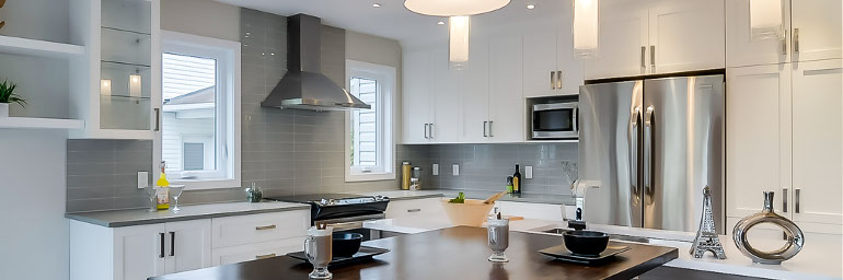 Newly renovated white kitchen