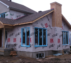 home addition near completion